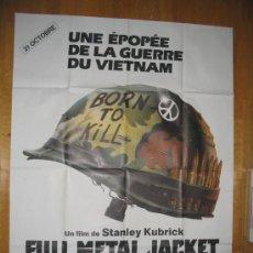 Cine: POSTER ORIGINAL FRANCES - LA CHAQUETA METALICA - FULL METAL JACKET - STANLEY KUBRICK -GUERRA VIETNAM. Lote 35376033