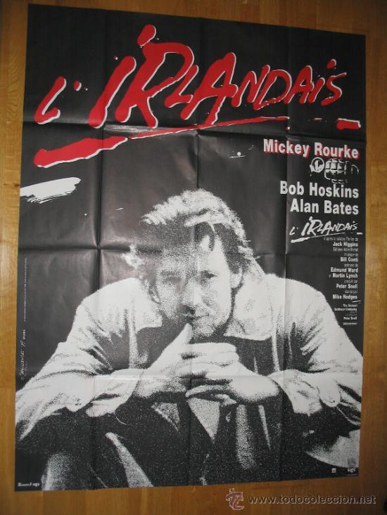 POSTER ORIGINAL FRANCES - REQUIEM POR LOS QUE VAN A MORIR - MICKEY ROURKE - BOB HOSKINS MIKE HODGES (Cine - Posters y Carteles - Suspense)