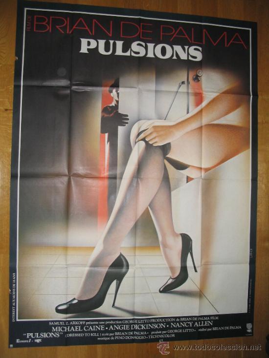 POSTER ORIGINAL FRANCES - VESTIDA PARA MATAR - DRESSED TO KILL - MICHAEL CAINE - BRIAN DE PALMA (Cine - Posters y Carteles - Suspense)