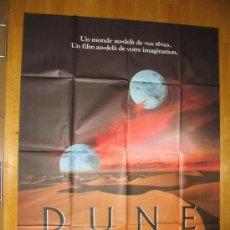Cine: POSTER ORIGINAL FRANCES - DUNE - DAVID LYNCH - KYLE MAC LACHLAN - PATRICK STEWART - STING. Lote 35461729