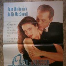 Cine: OBJETO DE SEDUCCION. JOHN MALKOVICH, ANDIE MACDOWELL.. Lote 35409828