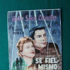 Cine: SE FIEL A TI MISMO - CARTEL PUZZLE - TYRONE POWER - JOAN FONTAINE - ALCALA DE HENARES - 1945 . Lote 35435023