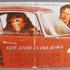 Cine: ESTE COCHE ES UNA RUINA,POSTER DE CINE ORIGINAL 70X50 APROX (6742). Lote 35448133