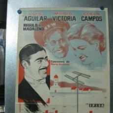 Cine: DEL RANCHO A LA TELEVISION - LUIS AGUILAR, MARIA VICTORIA, CHELA CAMPOS - AÑO 1961. Lote 35461307