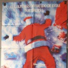 Cinema: ¡VAYA SANTA CLAUS!,DISNEY CARTEL DE CINE ORIGINAL 70X100 APROX (6959). Lote 35498195