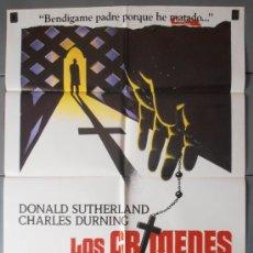 Cinéma: LOS CRIMENES DEL ROSARIO,DONALD SUTHERLAND CARTEL DE CINE ORIGINAL 70X100 APROX (7196). Lote 35522110