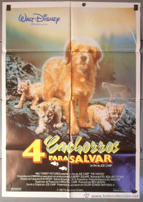 4 CACHORROS PARA SALVAR,DISNEY CARTEL DE CINE ORIGINAL 70X100 APROX (7347) (Cine - Posters y Carteles - Infantil)