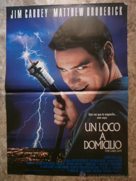 UN LOCO A DOMICILIO. JIM CARREY, MATTHEW BRODERICK. AÑO 1998. (Cine - Posters y Carteles - Comedia)