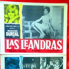 Cine: (LAS LEANDRAS 1969 COLECCION DE 9 LOBBY CARD ROCIO DURCAL) (MARIETA). Lote 35537840