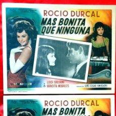 Cine: MAS BONITA QUE NINGUNA 1965 (COLECCION DE 8 LOBBY CARD ROCIO DURCAL (MARIETA). Lote 35538906