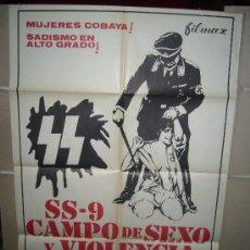 Cine: SS-9 CAMPO DE SEXO Y VIOLENCIA BRUNO MATTEI POSTER ORIGINAL 70X100 Q. Lote 35545758