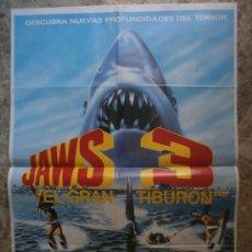 Cine: JAWS 3, EL GRAN TIBURON - DENNIS QUAID, BESS ARMSTRONG, SIMON MAC CORKINDALE. Lote 86733548