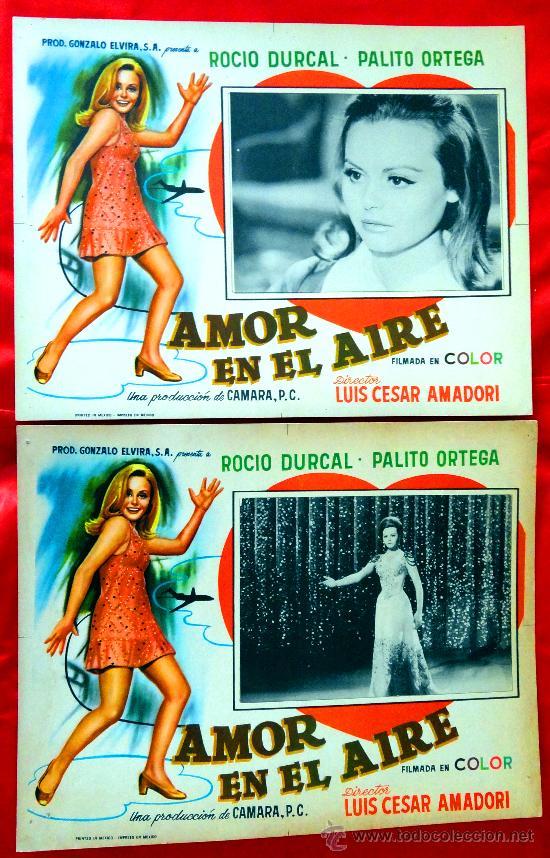 AMOR EN EL AIRE 1967 (COLECCION DE 6 LOBBY CARD ROCIO DURCAL (MARIETA) (Cine - Posters y Carteles - Clasico Español)