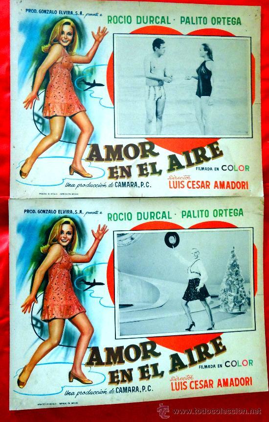 Cine: AMOR EN EL AIRE 1967 (COLECCION DE 6 LOBBY CARD ROCIO DURCAL (MARIETA) - Foto 2 - 35565425