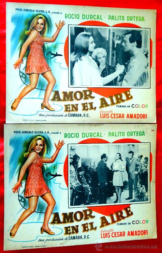 Cine: AMOR EN EL AIRE 1967 (COLECCION DE 6 LOBBY CARD ROCIO DURCAL (MARIETA) - Foto 3 - 35565425
