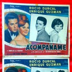 Cine: ACOMPAÑAME 1966 (COLECCION DE 4 LOBBY CARD DE ROCIO DURCAL (MARIETA) Y LOS BEATLES DE CADIZ. Lote 35567915