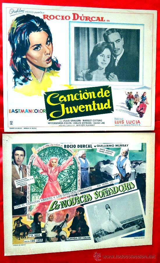 (COLECCION DE 7 LOBBY CARD DE ROCIO DURCAL (MARIETA) VARIAS PELICULAS (Cine - Posters y Carteles - Clasico Español)