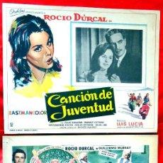 Cine: (COLECCION DE 7 LOBBY CARD DE ROCIO DURCAL (MARIETA) VARIAS PELICULAS. Lote 35568198