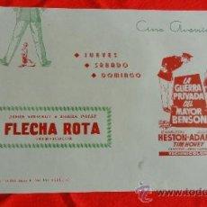 Cine: LA GUERRA PRIVADA DEL MAYOR BENSON, FLECHA ROTA, CARTELITO LOCAL AÑOS 50 (45X32) CINE AVENIDA. Lote 35574133