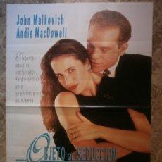 Cine: OBJETO DE SEDUCCION. JOHN MALKOVICH, ANDIE MACDOWELL.. Lote 35583540
