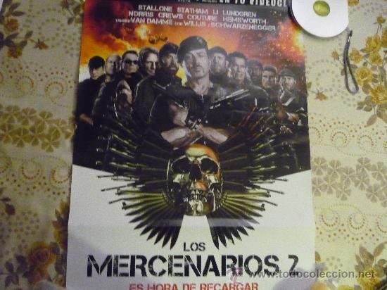 POSTER DE VIDEOCLUB PELICULA LOS MERCENARIOS 2 - TAMAÑO 65 X49 STALLONE-WILLIS-VAN DAMME... (Cine - Posters y Carteles - Acción)