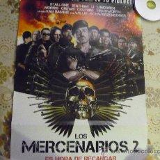 Cine: POSTER DE VIDEOCLUB PELICULA LOS MERCENARIOS 2 - TAMAÑO 65 X49 STALLONE-WILLIS-VAN DAMME.... Lote 35647863