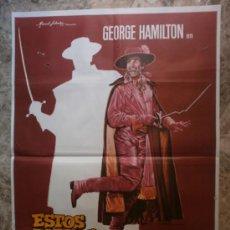 Cine: ESTOS ZORROS...LOCOS, LOCOS, LOCOS. GEORGE HAMILTON. AÑO 1982.. Lote 35670964