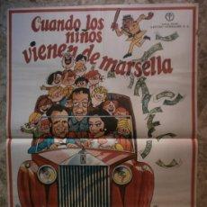 Cine: CUANDO LOS NIÑOS VIENEN DE MARSELLA. MANOLO ESCOBAR, SARA LEZANA, ANTONIO GARISA. AÑO 1974.. Lote 35686865