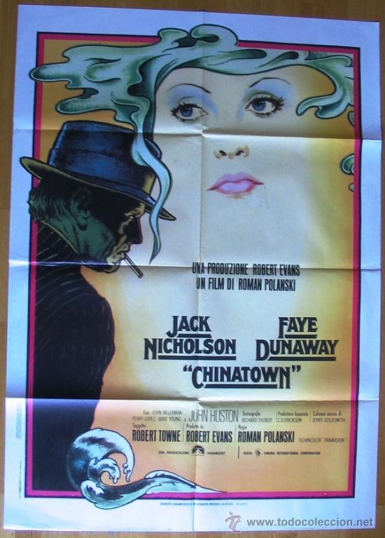 POSTER ORIGINAL ITALIANO - CHINATOWN - ROMAN POLANSKI - JACK NICHOLSON - FAYE DUNAWAY (Cine- Posters y Carteles - Drama)