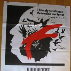 Cine: POSTER ORIGINAL ITALIANO - LOS PÁJAROS - ROD TAYLOR-TIPPI HEDREN-SUZANNE PLESHETTE- ALFRED HITCHCOCK. Lote 35774039