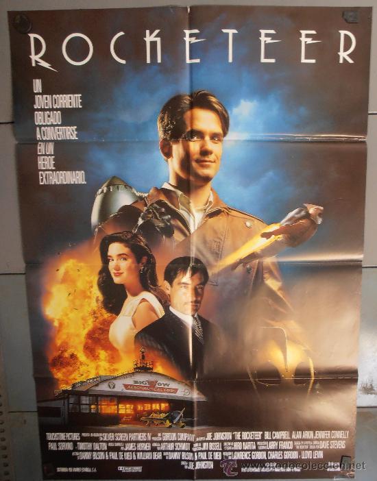 ROCKETEER, CARTEL DE CINE ORIGINAL 70X100 APROX (1995) (Cine - Posters y Carteles - Ciencia Ficción)