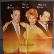 Cine: LA HOGERA DE LAS VANIDADES ,TOM HANKS, BRUDE WILLIS, MEELANIE GRIFFITH CARTEL DE CINE ORIGINAL 70X10. Lote 35784410