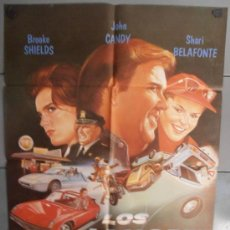 Cine: LOS LOCOS DEL CANNONBALL III,LEE VAN CLEEF/ BROOKE SHIELDS CARTEL DE CINE ORIGINAL 70X100 APROX (205. Lote 35784647