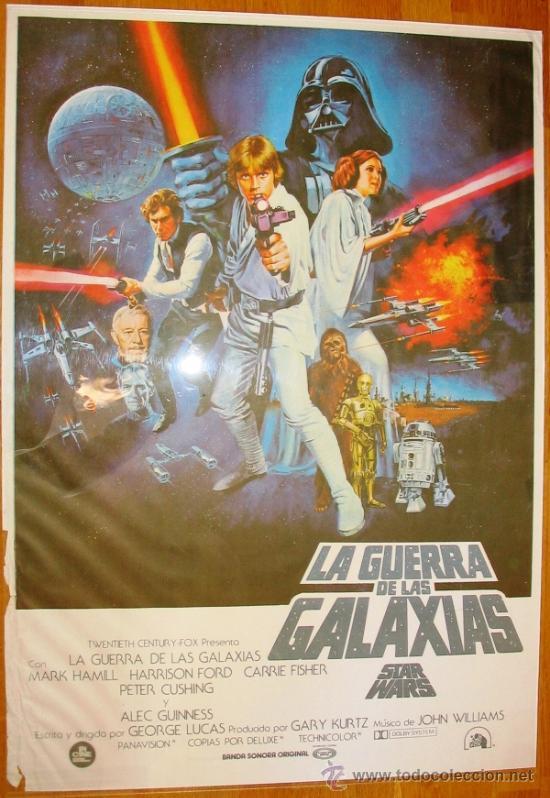 poster español - star wars - la guerra de las g - Comprar Carteles y ...