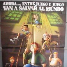 Cine: LA BANDA DEL PATIO,DISNEY CARTEL DE CINE ORIGINAL 70X100 APROX (2268). Lote 35793922