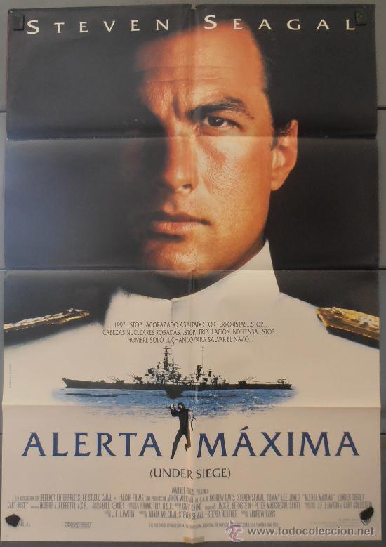 ALERTA MAXIMA,STEVEN SEAGAL CARTEL DE CINE ORIGINAL 70X100 APROX (2728) (Cine - Posters y Carteles - Acción)