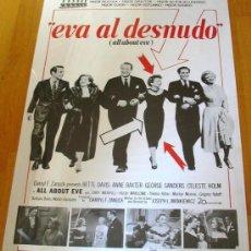 Cinema: POSTER ORIGINAL ESPAÑOL - EVA AL DESNUDO - BETTE DAVIS - ANNE BAXTER - GEORGE SANDERS - MANKIEWICZ. Lote 236667030