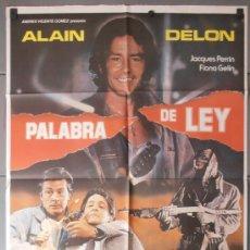 Cine: PALABRA DE LEY,ALAN DELON CARTEL DE CINE ORIGINAL 70X100 APROX (8171). Lote 35854420
