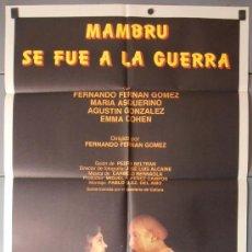 Cine: MAMBRU SE FUE A LA GUERRA,F.F.GOMEZ, MARIA ASQUERINO CARTEL DE CINE ORIGINAL 70X100 APROX (8173). Lote 35854434