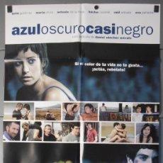 Cine: AZUL OSCURO CASI NEGRO, CARTEL DE CINE ORIGINAL 70X100 APROX (8280). Lote 35877318