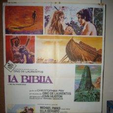 Cine: LA BIBLIA JOHN HUSTON AVA GARDNER RICHARD HARRIS POSTER ORIGINAL 70X100 ESTRENO . Lote 35882831
