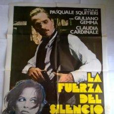 Cine: PÓSTER ORIGINAL LA FUERZA DEL SILENCIO . Lote 35893516