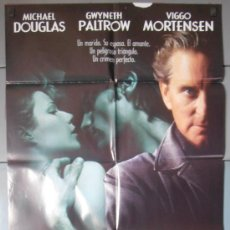 Cine: UN CRIMEN PERFECTO,MICHAEL DOUGLAS CARTEL DE CINE ORIGINAL 70X100 APROX (3508). Lote 35923604