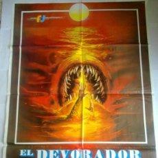 Cine: PÓSTER ORIGINAL EL DEVORADOR DEL OCEANO. Lote 48593029