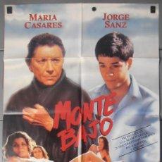 Cine: MONTE BAJO,MARIA CASARES,JORGE SANZ CARTEL DE CINE ORIGINAL 70X100 APROX (8534). Lote 35977665