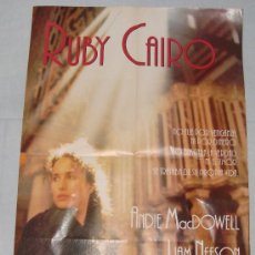 Cine: POSTER PELICULA - RUBY CAIRO, 60 X 42 CM. Lote 36017217