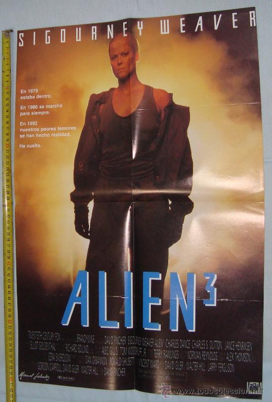 POSTER DE PELICULA ALIEN 3, 56 X 40 CM (Cine - Posters y Carteles - Terror)