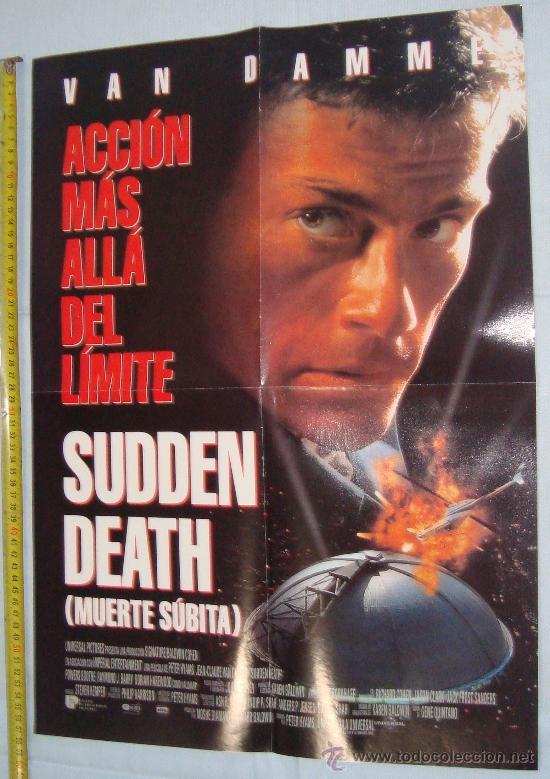 POSTER VAN DAMM PELICULAS - MUERTE SUBITA Y SEVEN, 56 X 40 CM (Cine - Posters y Carteles - Acción)