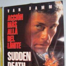 Cine: POSTER VAN DAMM PELICULAS - MUERTE SUBITA Y SEVEN, 56 X 40 CM. Lote 36019606