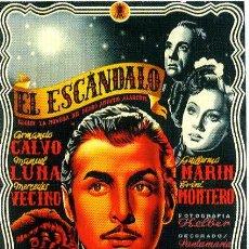 Cine: EL ESCANDALO.- 1943 DE JOSE L. SAÉZ DE HEREDIA. ORIGINAL DEL ESTRENO.- 100X70 CM. LITOGRAFIA.. Lote 40775517
